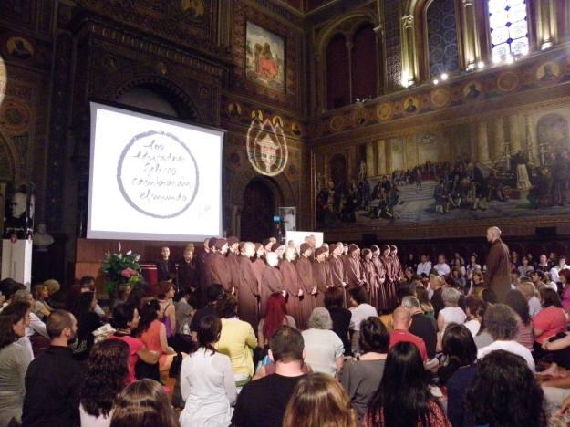 Escuelas despiertas, Thich Nhat Hanh en Barcelona